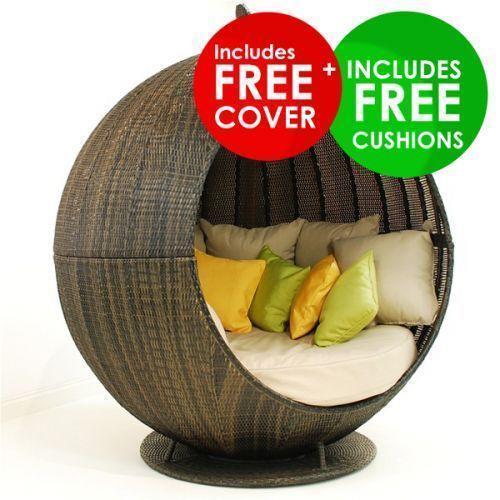 Rattan Day Bed Garden  Patio Furniture  eBay