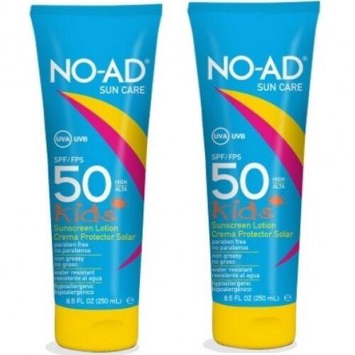 NO-AD Kids Sensitiv Sonnencreme LSF 50 Sonnenschutz UVA UVB Schutz Wasserfest 2x
