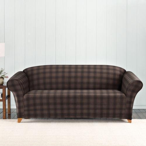 ebay chair covers wicker living room chairs plaid sofa |