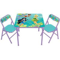 Disney Fairies Tinkerbell Kids Table and Chair Set New | eBay
