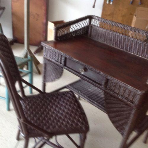 heywood wakefield wicker chairs trendy high chair furniture   ebay
