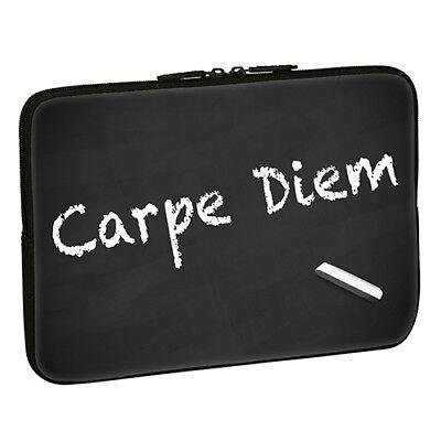 Design Notebook Schutzhülle 17,3 Zoll Laptop Hülle Tasche - Carpe Diem Spruch