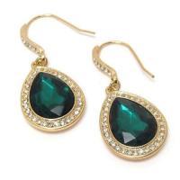 Emerald Green Teardrop Earrings   eBay