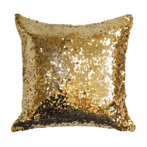 Gold Sequin Cushion  eBay