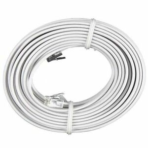 25 ft Feet RJ11 4c Modular Telephone Extension Phone Cord
