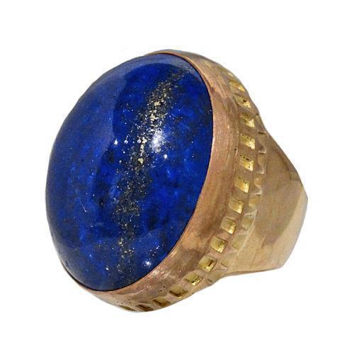 Mens Gold Lapis Ring EBay