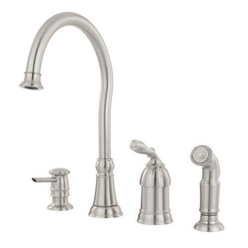 moen faucet kitchen crosley cart high arc ebay