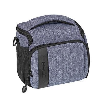 SLR Kameratasche Schultertasche Fototasche Umhängetasche Regenschutz, L grau