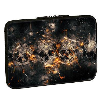 Design Notebook Schutzhülle 15,6 Zoll Laptop Hülle Tasche - Skulls Totenkopf