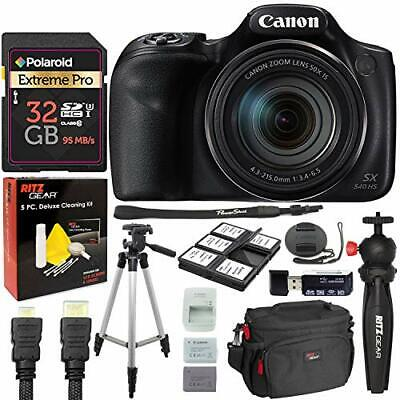 Canon PowerShot SX540 Digital Camera with 32GB Memory Card Bundle