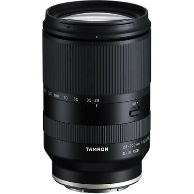 Tamron 28-200mm f/2.8-5.6 Di III RXD Lens for Sony E Full Frame 6 YEAR WARRANTY