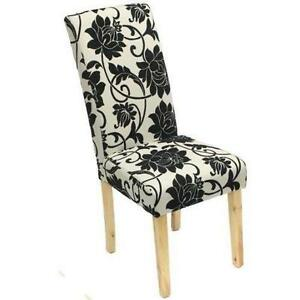 dining chairs fabric ball chair for office benefits ebay covered