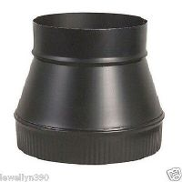 "6"" X 7"" 24 Gauge Heavy Duty BLACK Stove Pipe INCREASER"