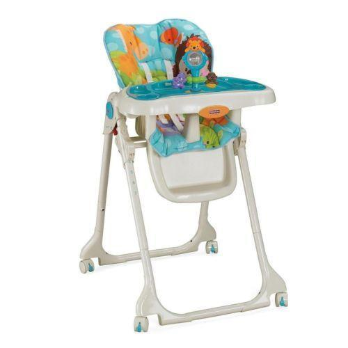 rainforest high chair bamboo folding chairs wedding fisher price precious planet ebay