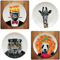 Novelty-Animal-Dining-Dinner-Plates-Funny-Animal-Party ...