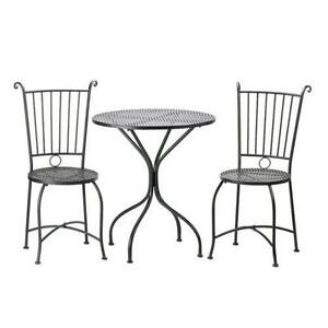 metal bistro chairs patio high ebay table and