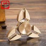 Tri Fidget Hand Spinner Triangle Torqbar Brass Finger Toy EDC Focus ADHD Autism