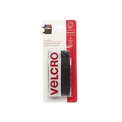 "VELCRO Brand - Sticky Back - 3 1/2"" x 3/4"" Strips, 4 Sets - Black"