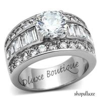 Wide Band Engagement Ring | eBay