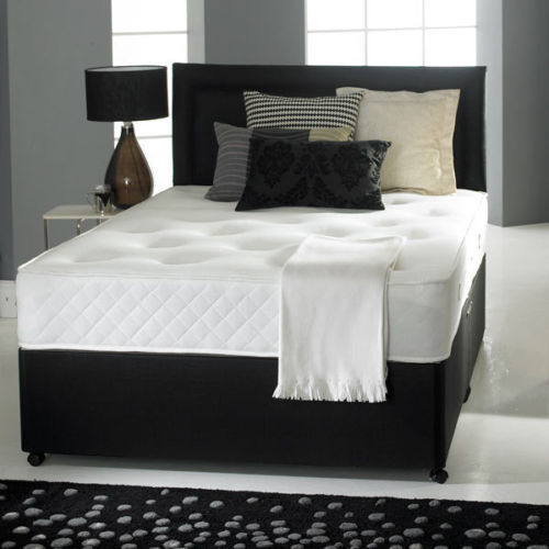 Orthopedic Divan Bed Set Mattress Headboard Size 3ft 4ft6 Double 5ft King