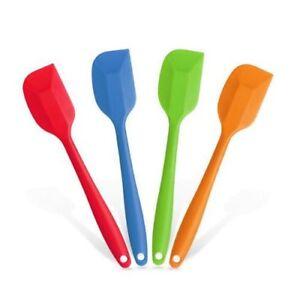 kitchen spatula standard size sink heat resistant tools gadgets ebay silicone spatulas cake mixing large 2 pcs set flexible
