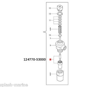 Genuine Yanmar Marine 1GM10 Fuel Injector Nozzle Assembly