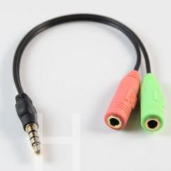 Phone Socket Wiring Diagram Uk Vl Rb30 Headphone Microphone Splitter | Ebay