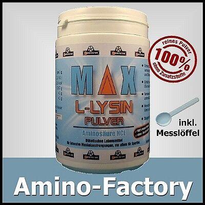 L-Lysin, 100% reines Pulver, Dose 100g