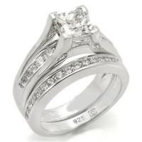 Sterling Silver Princess Cut Wedding Set | eBay