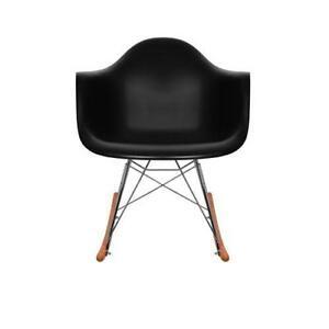 black eames chair coleman lumbar quatro buy new used chairs ebay rocking
