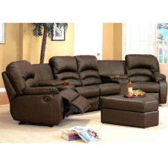 Modern Bonded Leather Sectional Sofa With Recliners Asian Style Sofas Uk Brown Recliner | Ebay
