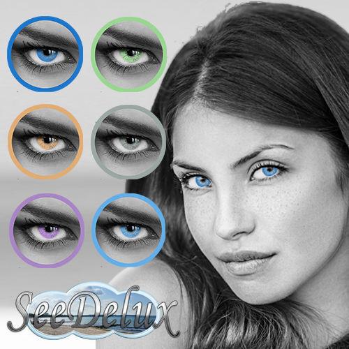 Farbige Jahres-Kontaktlinsen in natürlichen Farben MIT und OHNE Stärke