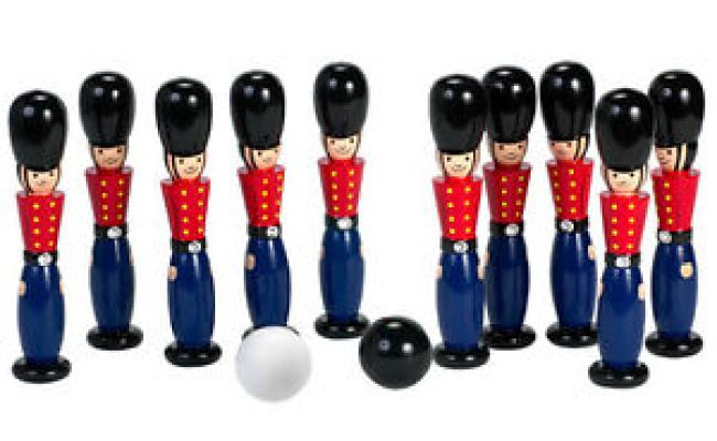 Orange Tree Toys Wooden Skittles Soldier Traditional