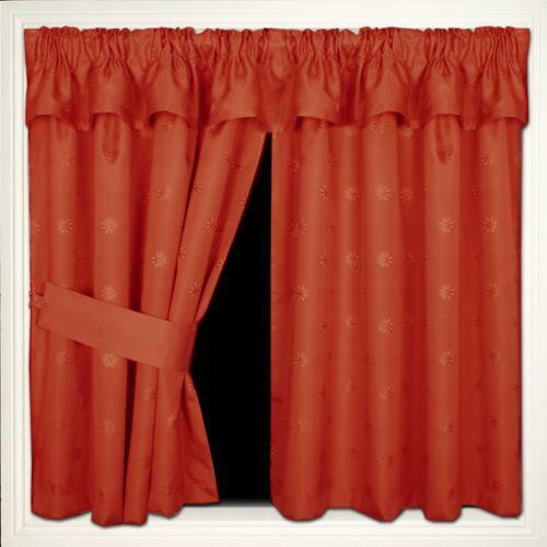 burgundy kitchen curtains exhaust fans home depot cream terracotta | ebay