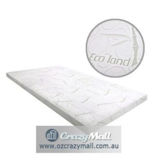 Single Double Queen King Cool Gel Memory Foam Mattress Topper 8cm