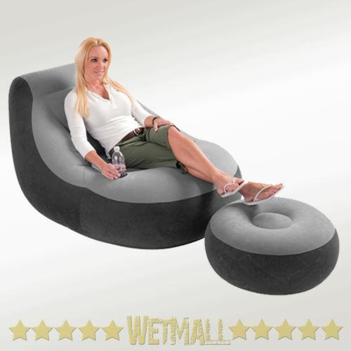 twin pull out sleeper chair ottoman inflatable | ebay