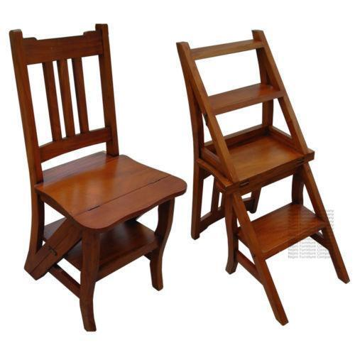 library chair ladder cover hire harrogate steps vintage step stools ebay
