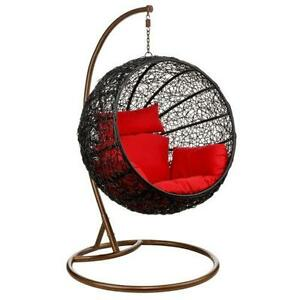 al fresco st tropez hanging chair and cushion swing furniture chairs ebay rattan