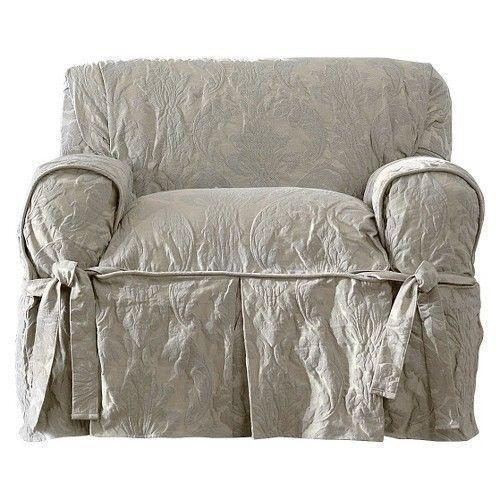Linen Slipcover Chair  eBay