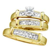 Yellow Gold Wedding Ring Sets | eBay