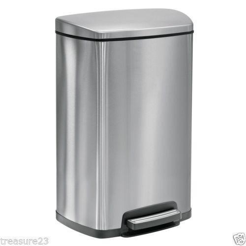 stainless kitchen trash can lowes outdoor kitchens steel | ebay