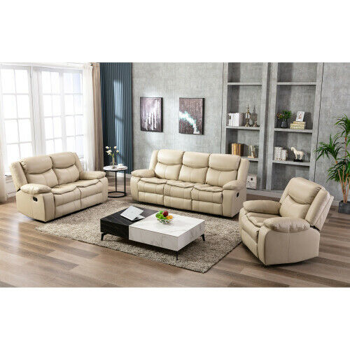 leather recliner sofa set 1 2 3 seater couch loveseat living room furniture