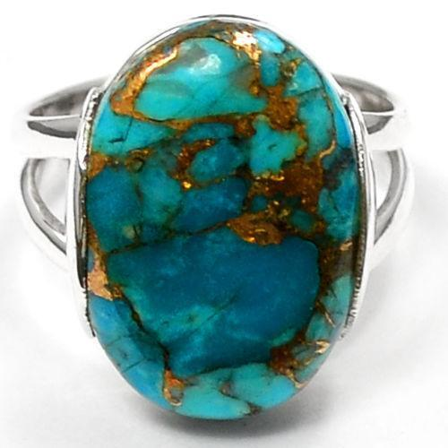 Blue Copper Turquoise Ring  eBay