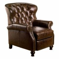 Distressed Leather Chair | eBay