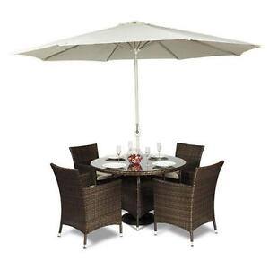 outdoor table and chairs wood plastic covers garden ebay rattan