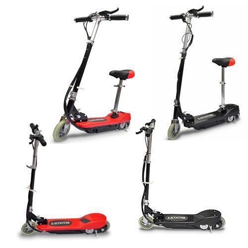 Elektro Scooter EScooter Roller Elektroroller CityRoller 120 W Schwarz/Rot