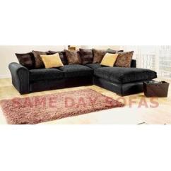 Fabric Corner Sofa Cheap Uk Lazy Boy Briggs Reclining Reviews Large Grey   Ebay