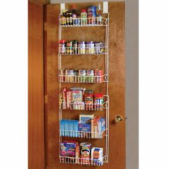 Kitchen Pantry Organizer White Chairs Over The Door Ebay Storage Rack Shelf Spice Space Saver