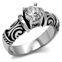Tribal-Irish-Celtic-Wedding-Engagement-Ring-Women ...