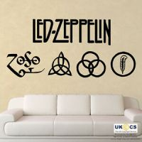 Led Zeppelin Music Rock Band Logo Wall Art Stickers Decal ...